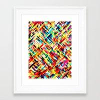 Summertime Geometric Framed Art Print