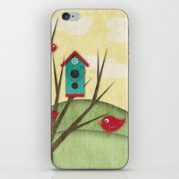 Shabby Sweet Tweet On The Hillside iPhone & iPod Skin
