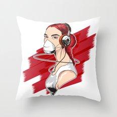 spy woman Throw Pillow
