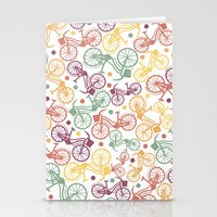 Whimsical Bicycle Patter… Stationery Cards