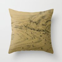 Swamis Sketch Throw Pillow