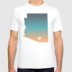 Arizona - Tucson SMALL Mens Fitted Tee White