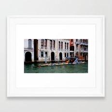 Submarine In The City Framed Art Print