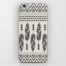 Tribal Feathers-Black & … iPhone & iPod Skin