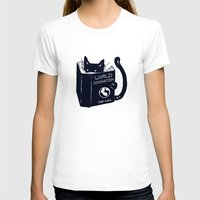 world T-shirts featuring World Domination For Cats by Tobe Fonseca