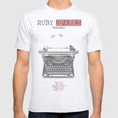 Ruby Sparks Mens Fitted Tee Ash Grey SMALL