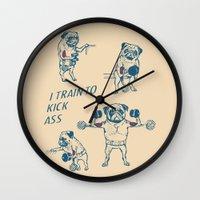 Pug Workout Wall Clock