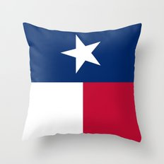 State flag of Texas - Vertical Authentic Version Throw Pillow