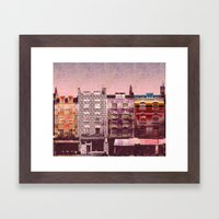 Pink Houses Framed Art Print