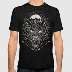 BEAST MODE Mens Fitted Tee Tri-Black SMALL