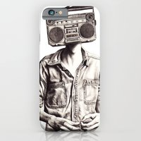 iPhone & iPod Case featuring Radio-Head by KatePowellArt
