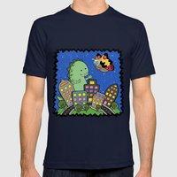 Monstrous Friendship Mens Fitted Tee Navy SMALL