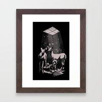 Deer Dad Framed Art Print