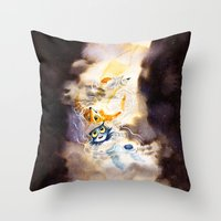 Little Owl Boy And The M… Throw Pillow