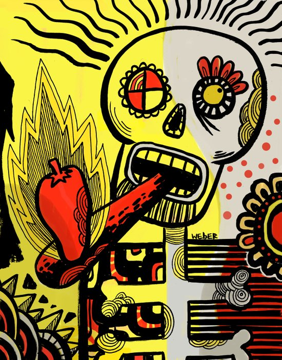 Endorphin Rush / Shake'n the Skull! Canvas Print