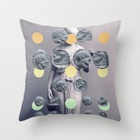 Statue With A Dot Gradie… Throw Pillow