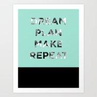 Art Print featuring Dreamer, Planner, Maker by Crystal ★ Walen