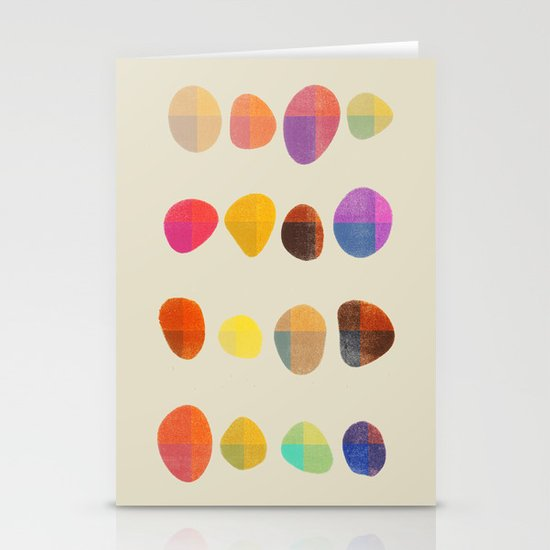 Painted Pebbles 4 Stationery Card