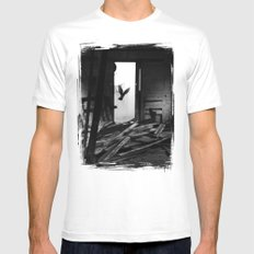 Abandoned Buildings have also Dwellers White SMALL Mens Fitted Tee