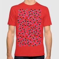 Electric Triangles Mens Fitted Tee Red SMALL