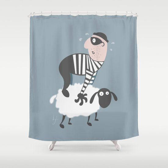 on the LAMb Shower Curtain