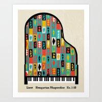 Liszt - Hungarian Rhapso… Art Print