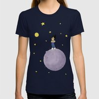 The Little Prince Of Sai… Womens Fitted Tee Navy SMALL
