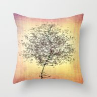 Throw Pillow featuring Zen Tree by Klara Acel