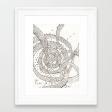 Santa is coming!!! Framed Art Print