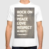 ... My Life Mantra ... Mens Fitted Tee White SMALL