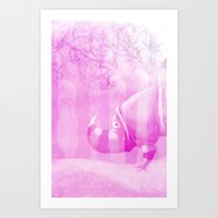 Ghostly Rhino Art Print