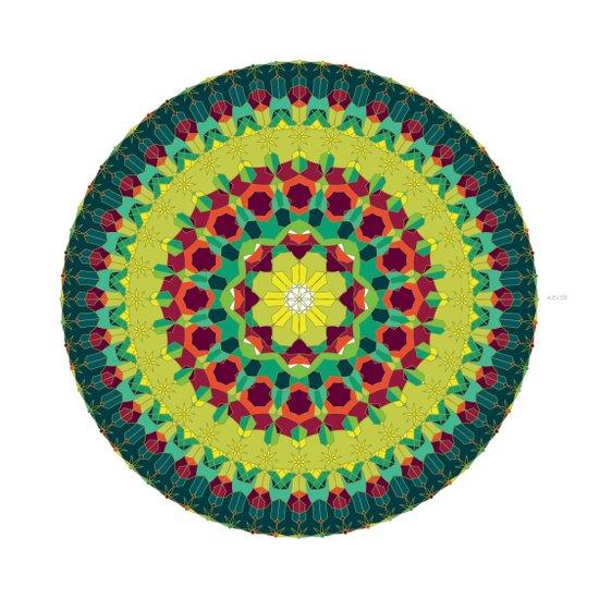 Octagon Rosette 004 | Autumn Art Print
