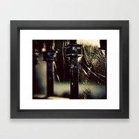 Golden Web Framed Art Print