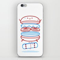 Street burger  iPhone & iPod Skin