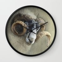 Dougal - A black faced Welsh ram Wall Clock