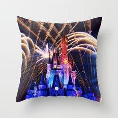 Walt Disney World Christmas Eve Fireworks Throw Pillow