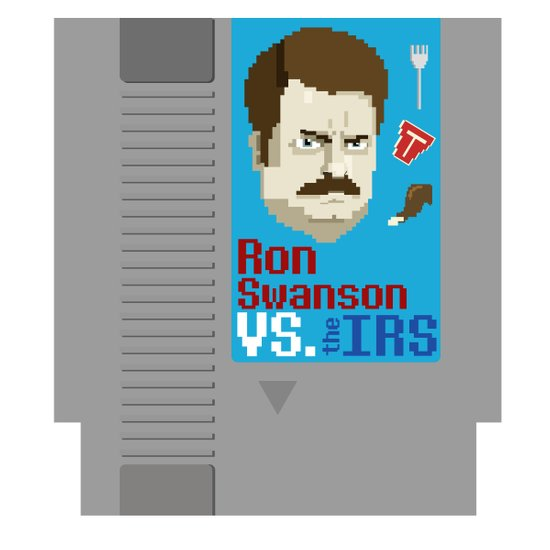 Ron Swanson VS. the IRS Art Print