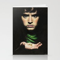 lord of the rings Stationery Cards featuring Frodo - Lord of the Rings by Hilary Rodzik