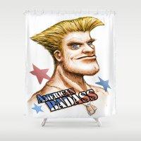 American Badass Shower Curtain