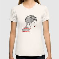 Red Beauty Womens Fitted Tee Natural SMALL