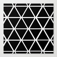 BLACK & WHITE TRIANGLES … Canvas Print