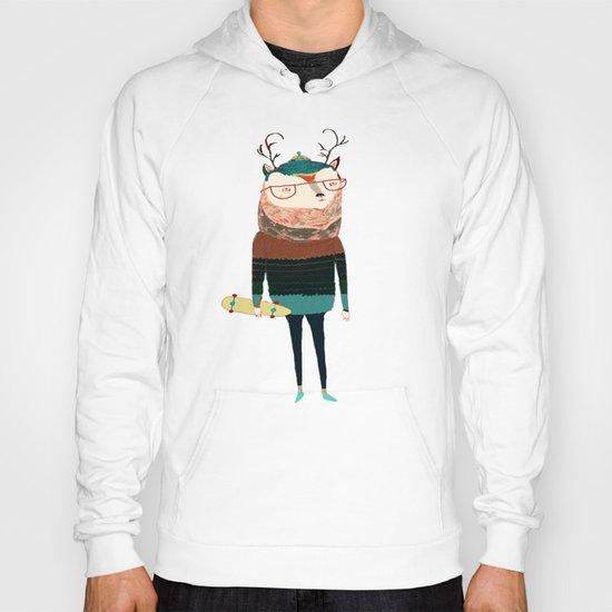 Deer, deer art, deer print, deer illustration,  Hoody