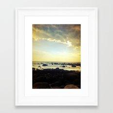 Sunset Over the Water Framed Art Print