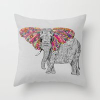 Bella The Happy Butterphant Throw Pillow