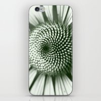 Black and White Flower Core iPhone & iPod Skin
