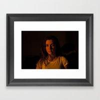 Kara And The Sunset Framed Art Print
