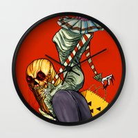 All Hallows March Wall Clock