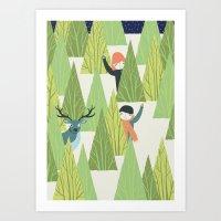 Christmas Forest Art Print