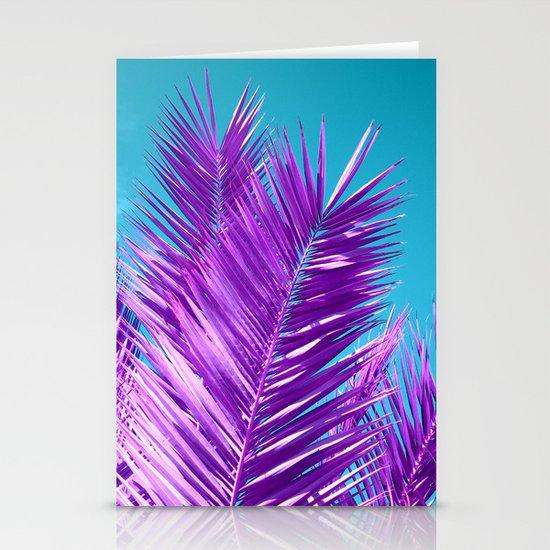purple palm tree Stationery Card