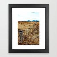 Icelandic View Framed Art Print